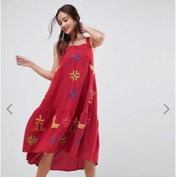 aa12480c8c3a1 ASOS Dresses | Geotribal Embroidered Drop Waist Midi Dress | Poshmark